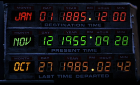 Time travel machine date selector