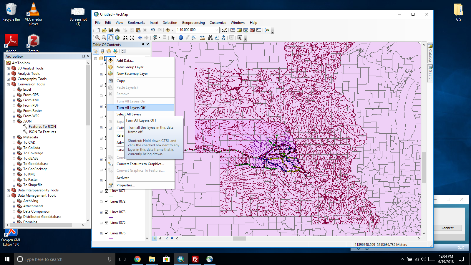 Exporting Vector Data from ArcMap to GeoJSON – CDRH Development